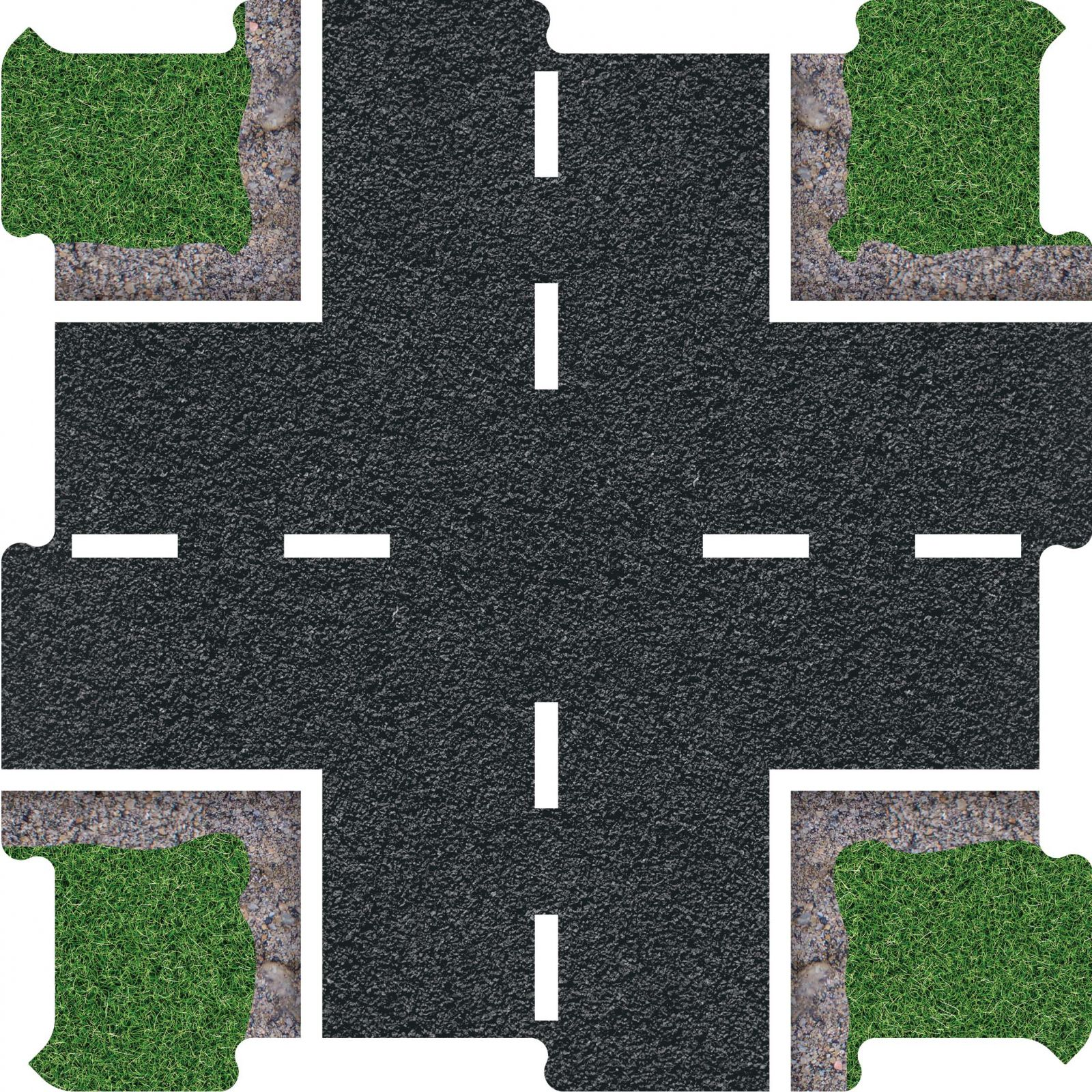 Podlahove puzzle silnice krizovatka