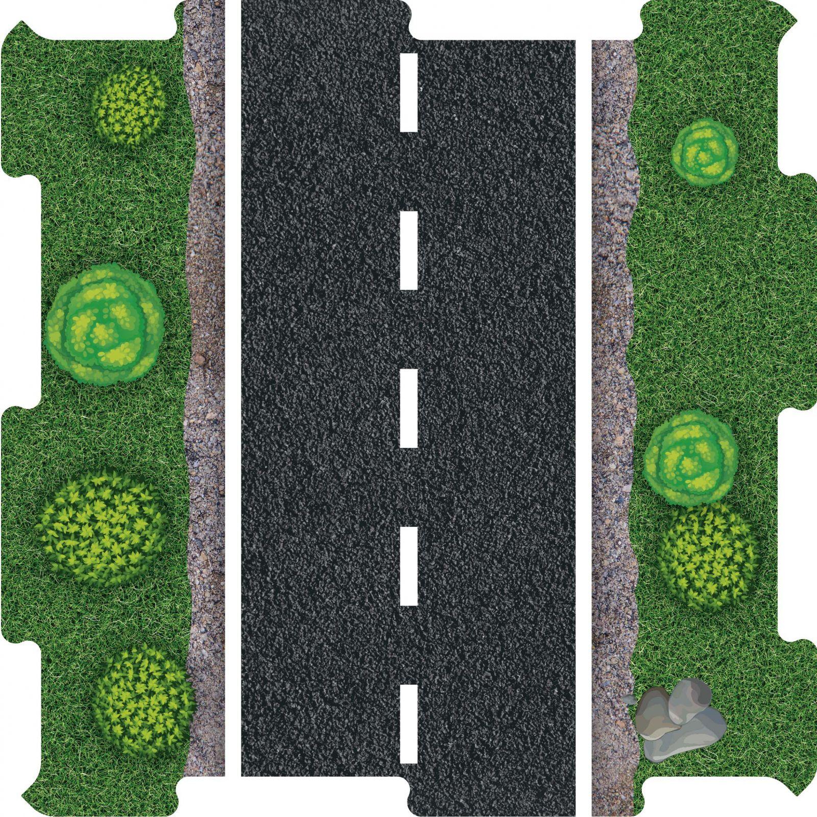 Podlahove puzzle silnice stromy