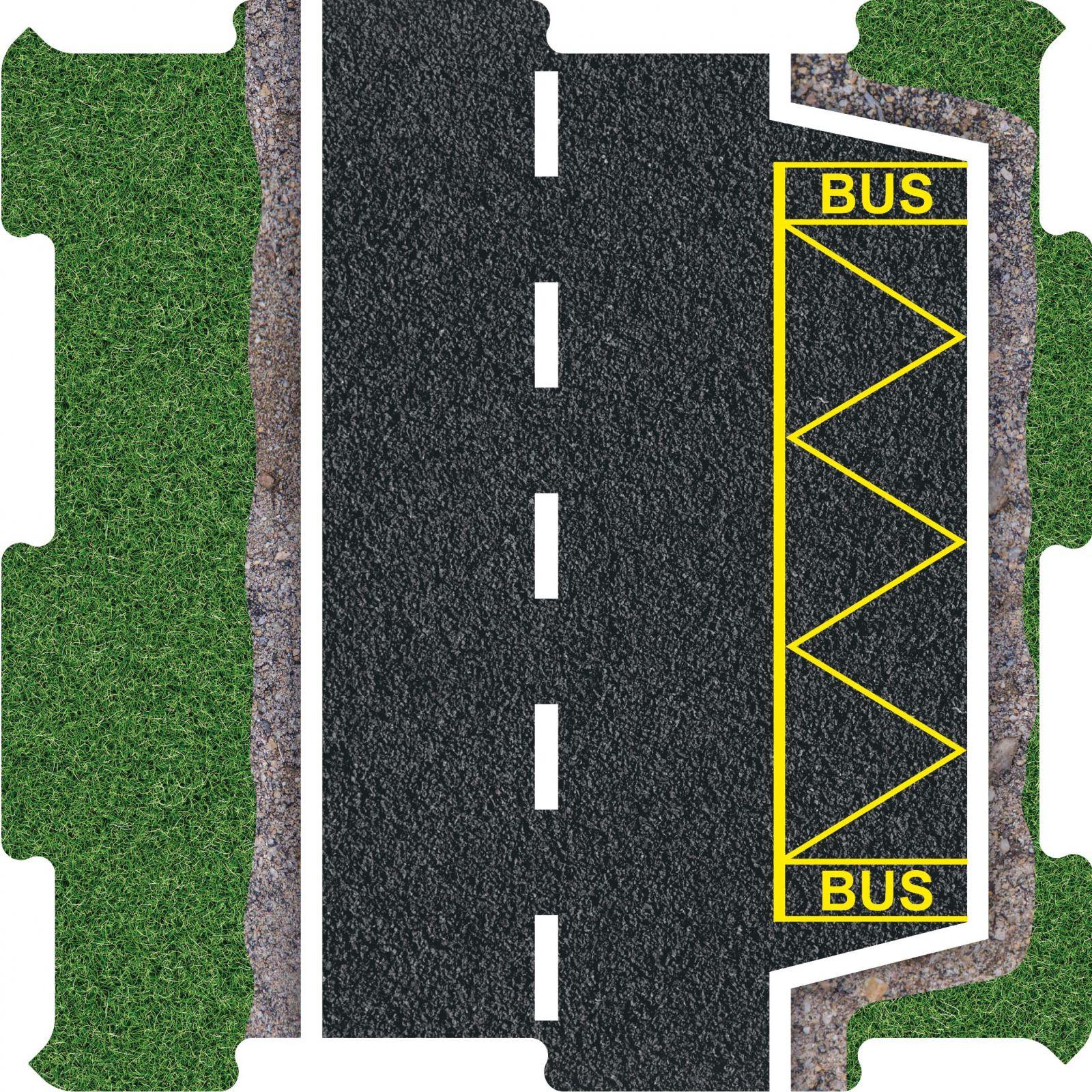 Podlahove puzzle silnice zastavka BUS