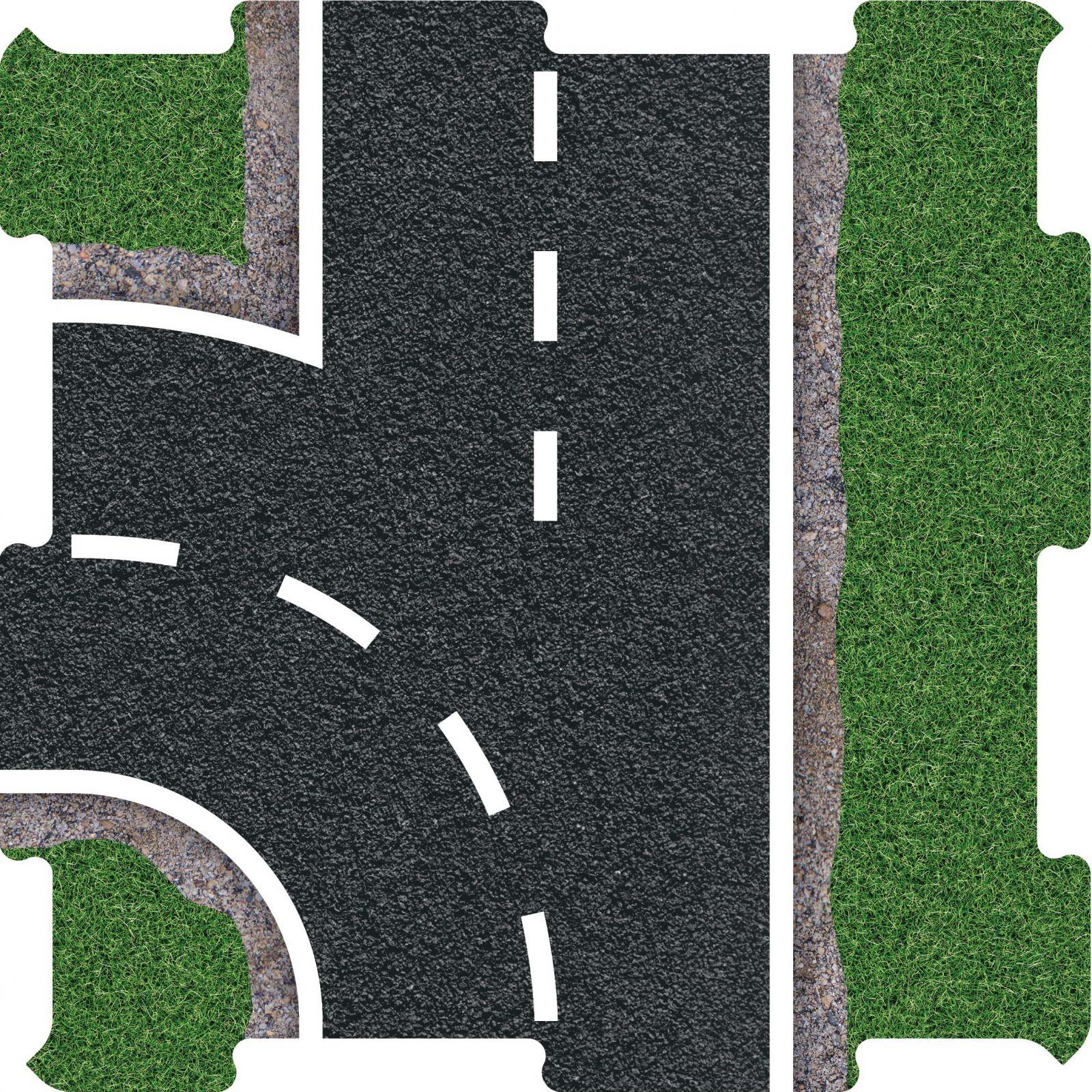 Podlahove puzzle silnice vyjezd levy