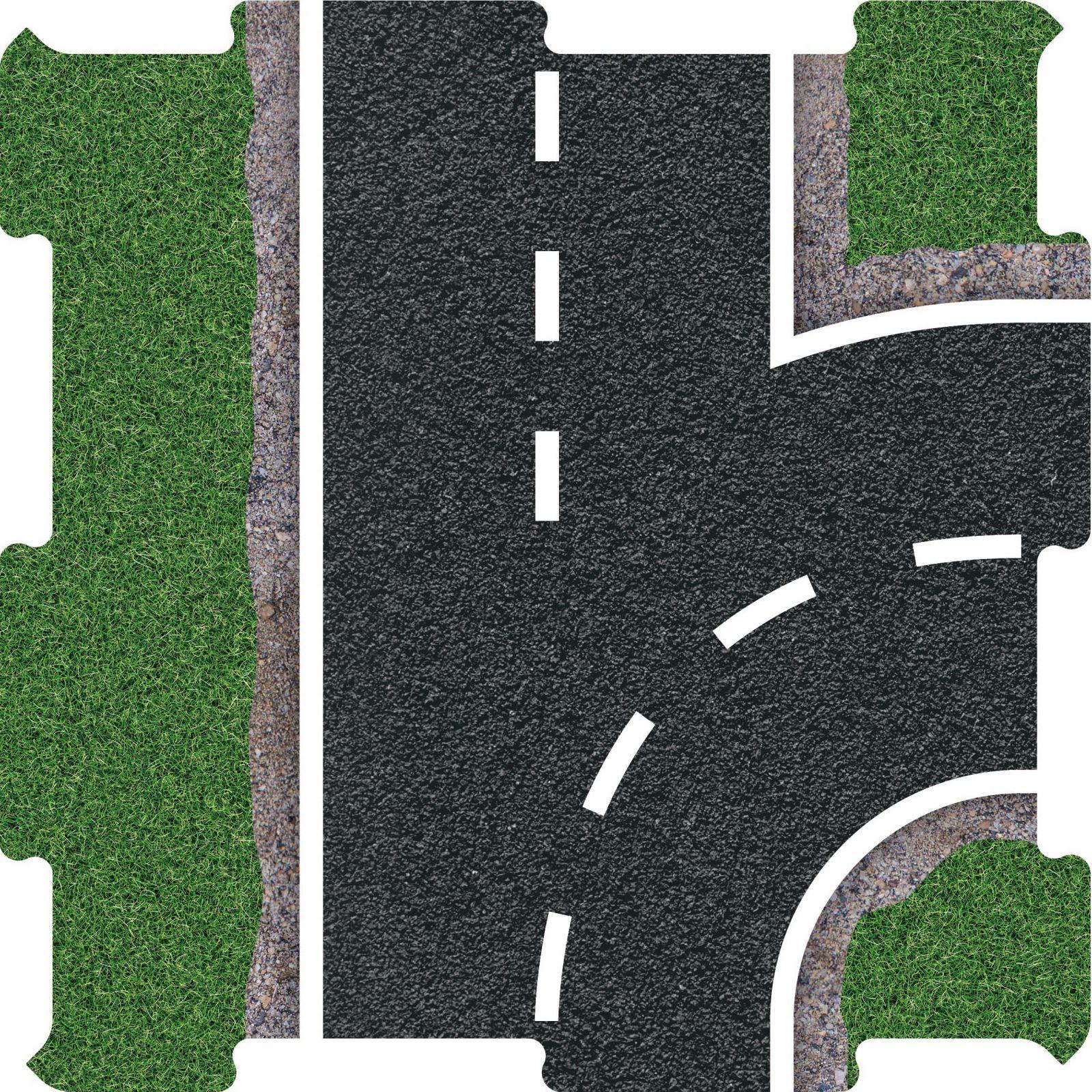 Podlahové puzzle silnice vyjezd pravy