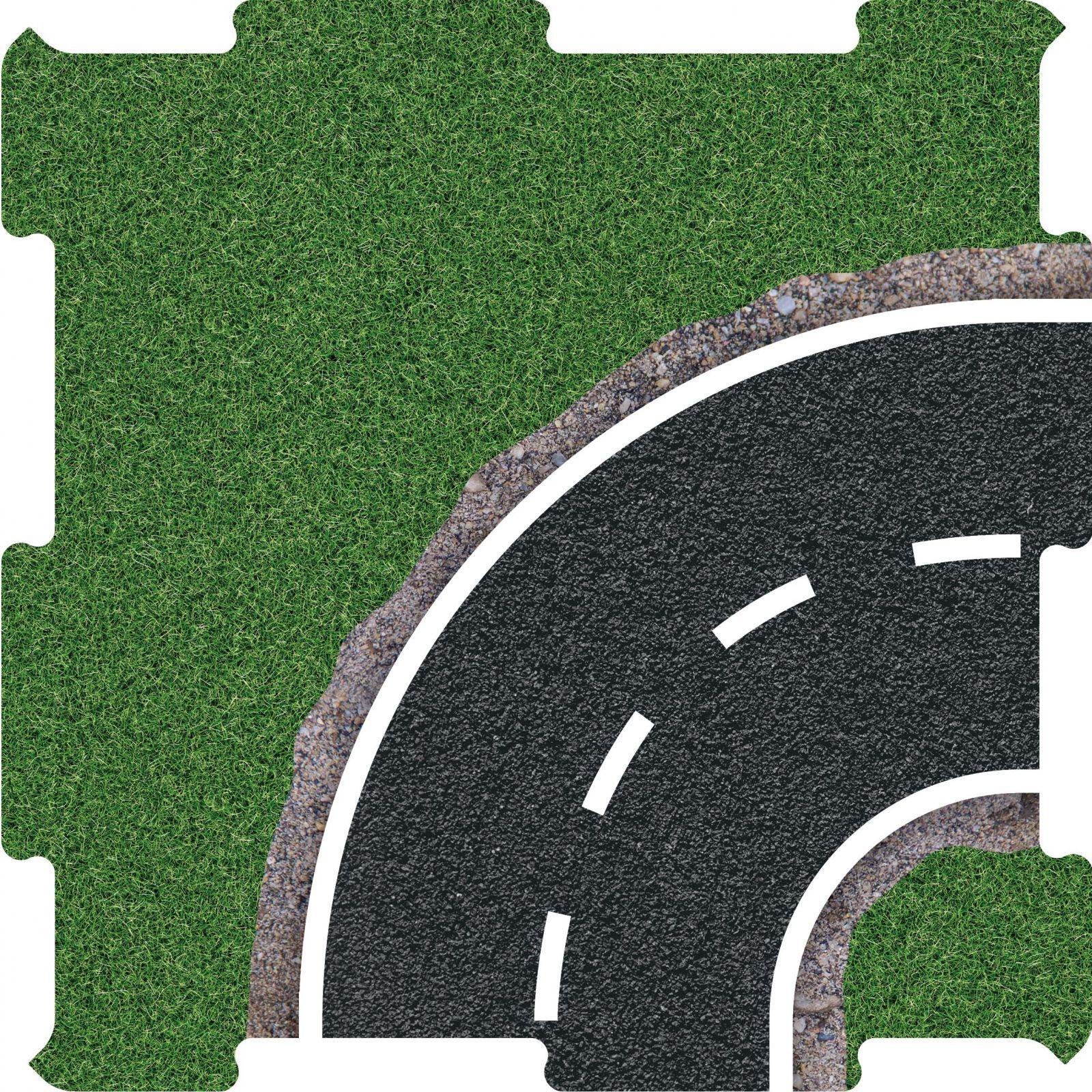 Podlahove puzzle silnice zatacka