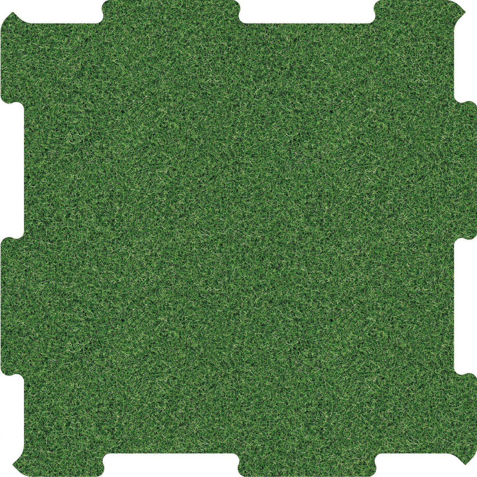 Podlahove puzzle silnice travnata plocha