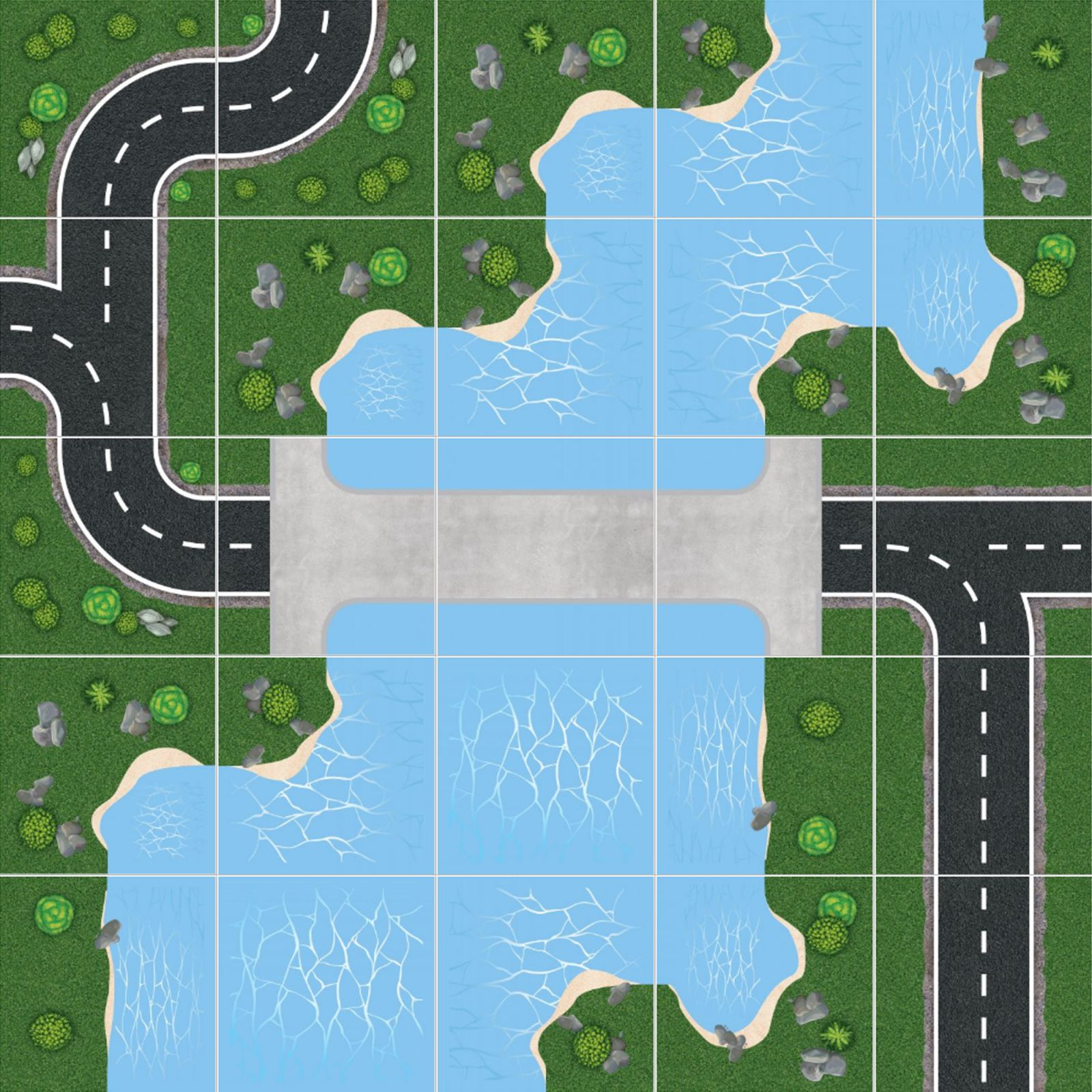 Podlahové puzzle Amazonský veletok