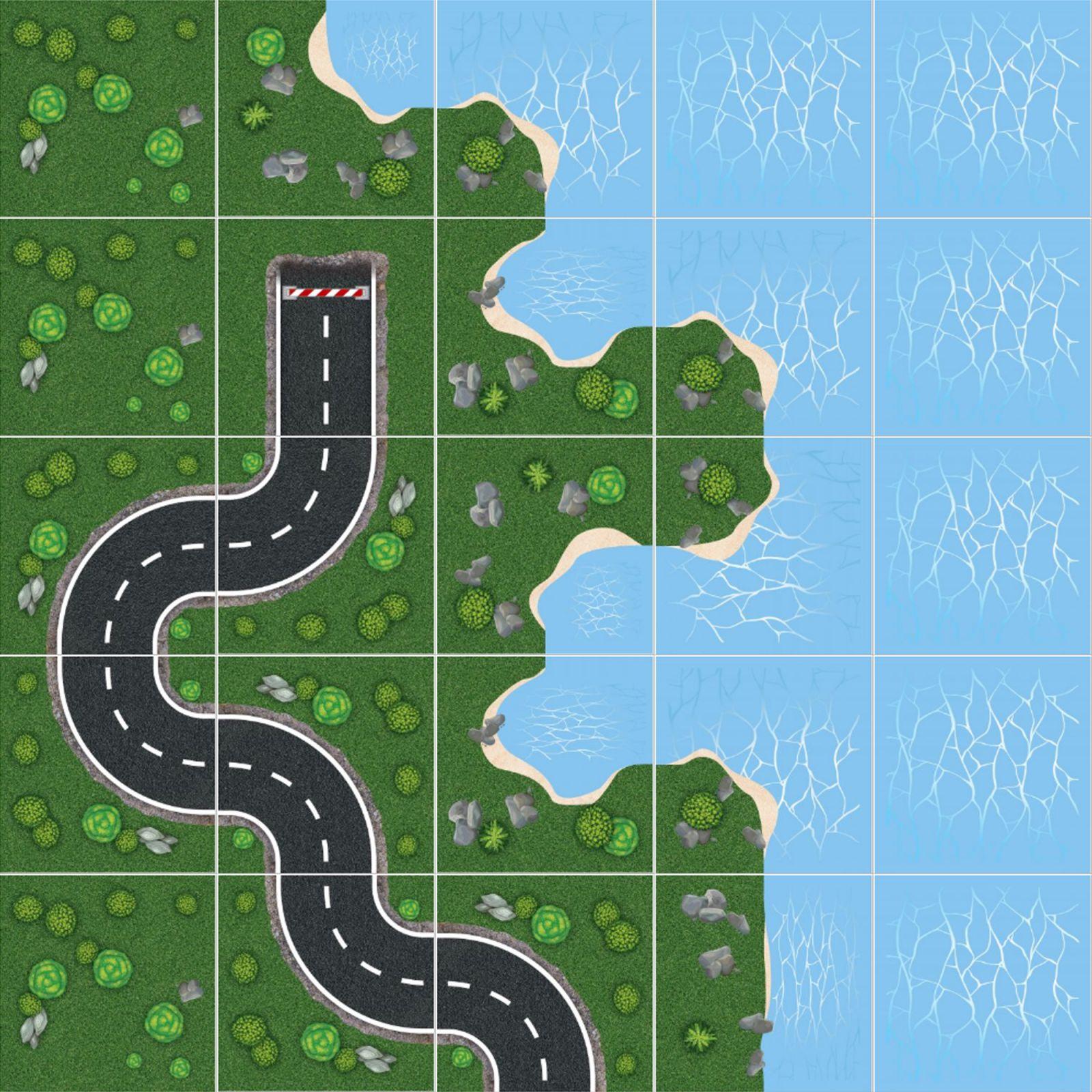 Podlahové puzzle Cesta podél pobřeží