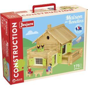 Jeujura Dřevěná stavebnice 175 dílků velký dům 01