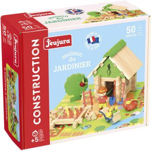 Jeujura Dřevěná stavebnice Zahrádkářství 50ks