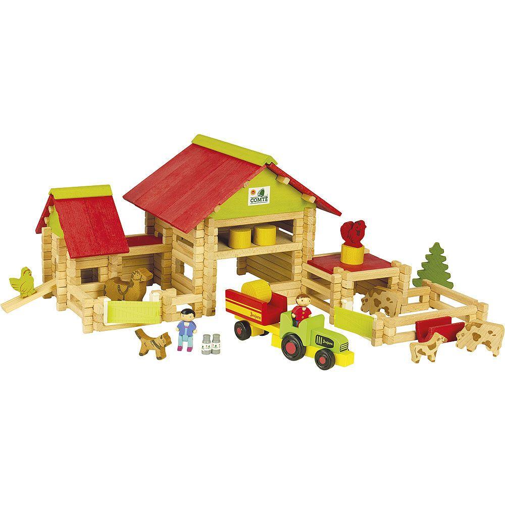 Jeujura Velká farma s traktorem a zvířátky 220ks 01