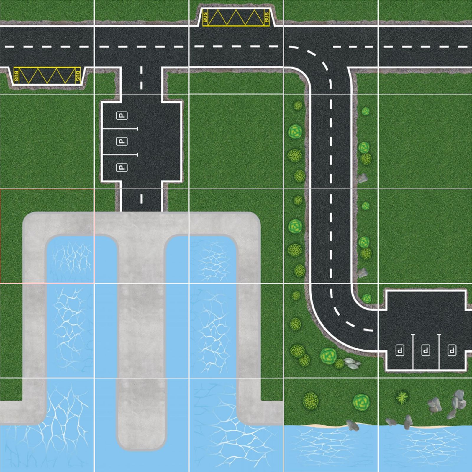 Podlahové puzzle Námořní přístav