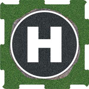 Podlahove puzzle heliport