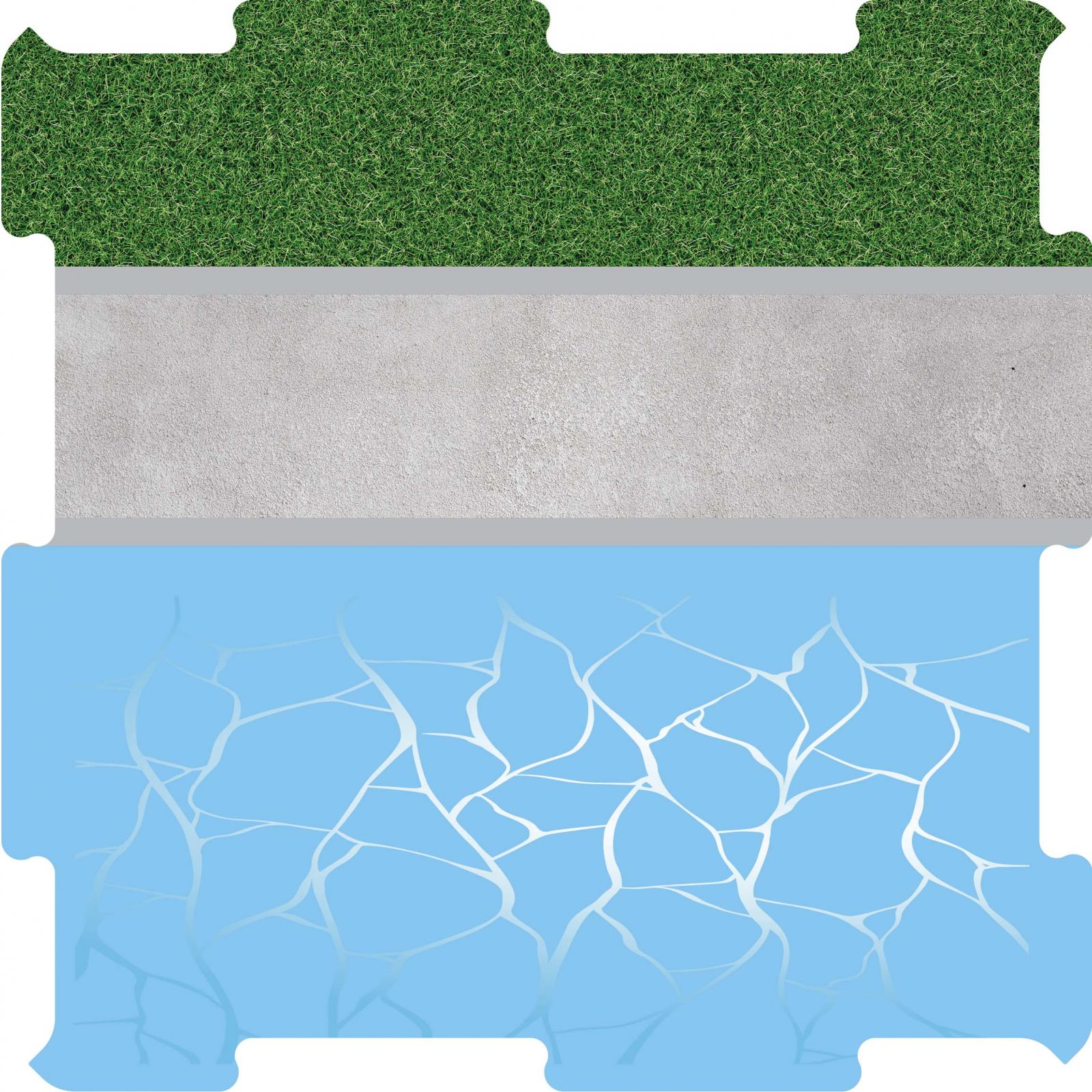 Podlahové puzzle přístav boční díl