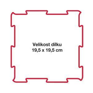 Puzzle na podlahu přístav roh vnější