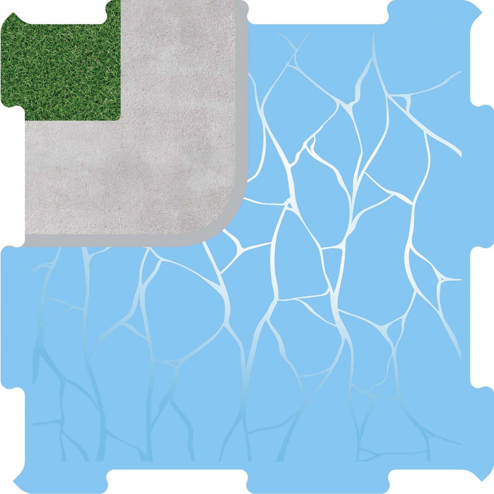 Podlahové puzzle přístav roh vnější