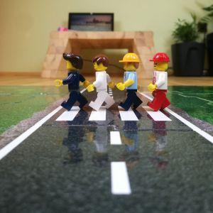 Puzzle na podlahu silnice přechod 01