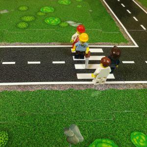 Puzzle na podlahu silnice přechod 02
