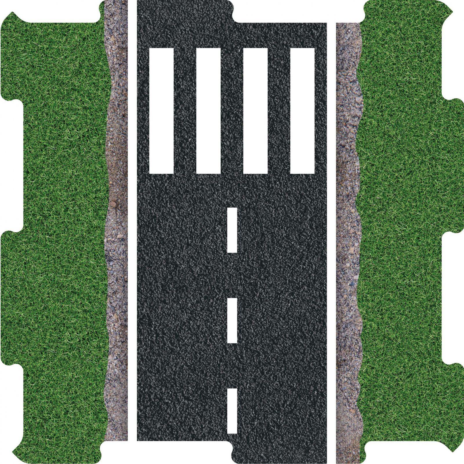Puzzle na podlahu silnice přechod