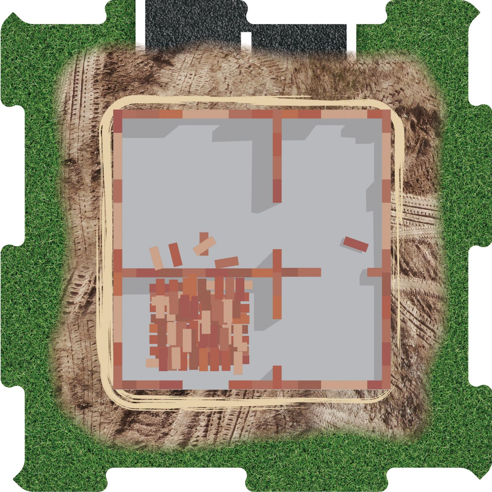 Podlahove puzzle staveniste