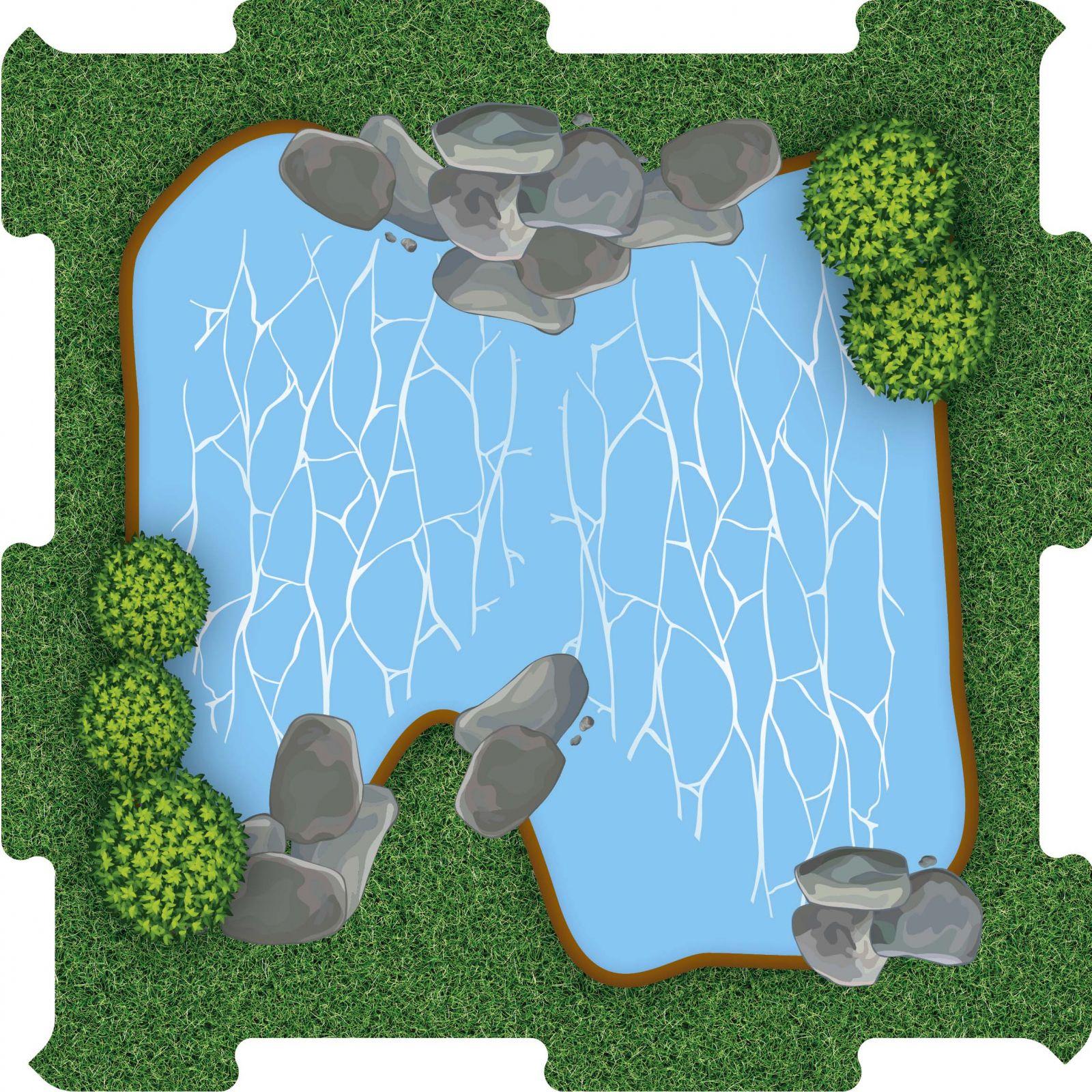 Podlahové puzzle Zoo jezírko