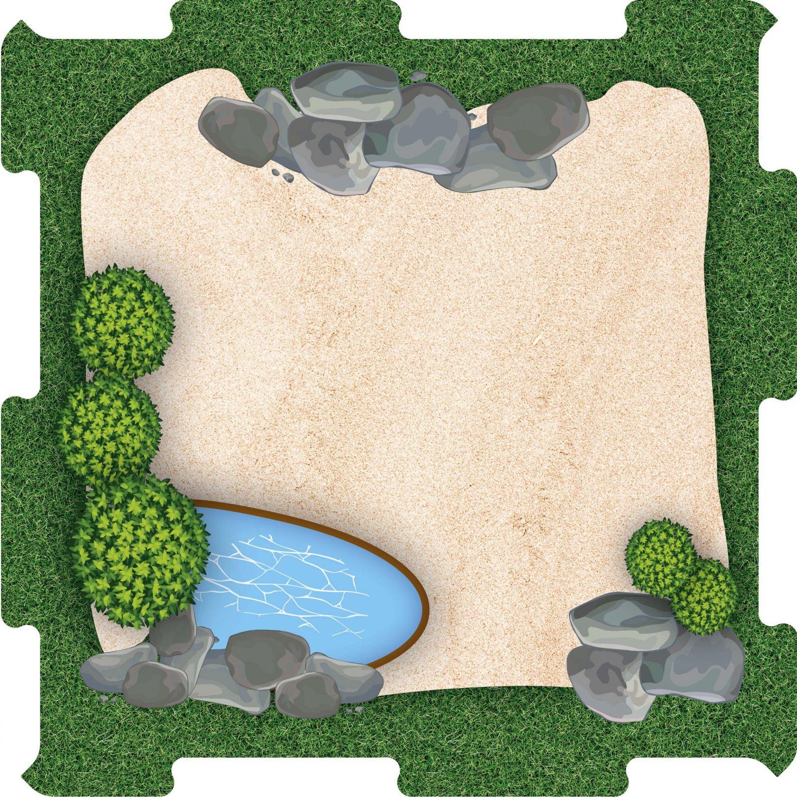 Podlahové puzzle Zoo výběh pískový