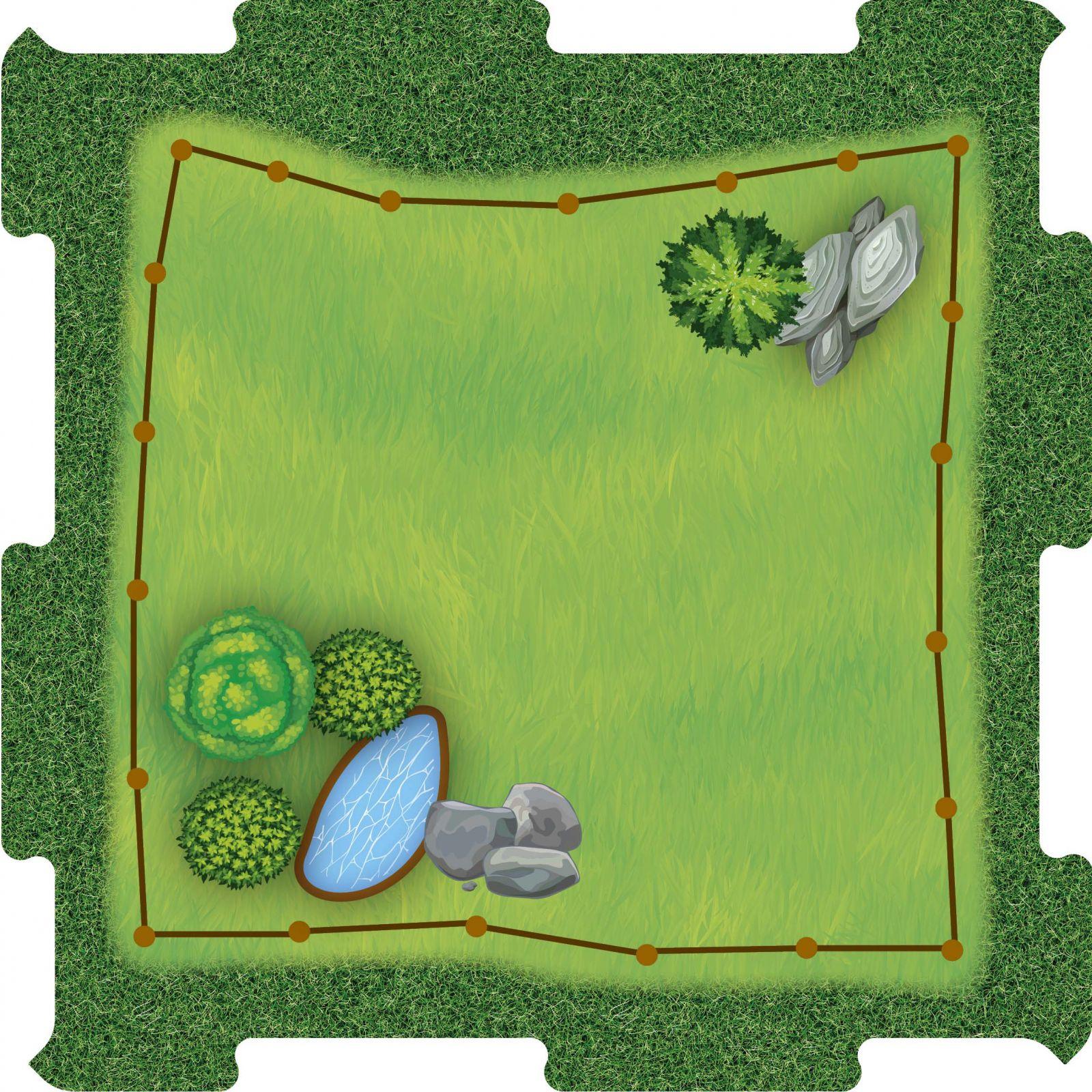 Podlahové puzzle Zoo výběh travnatý