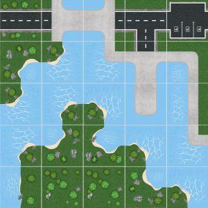 Podlahové puzzle Říční přístav