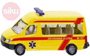 SIKU Auta žlutá Ambulance ČR set 3ks model kov blister 1825