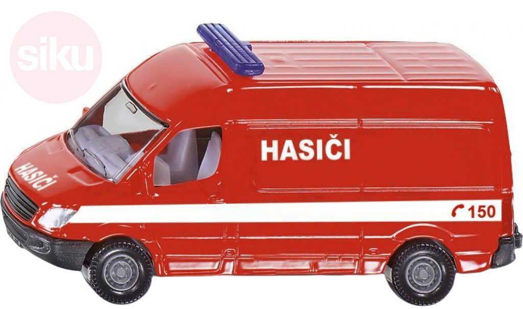SIKU Auto hasiči dodávka červená CZ model kov 0808