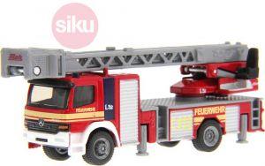 SIKU Auto hasiči s otočným vysouvacím žebříkem