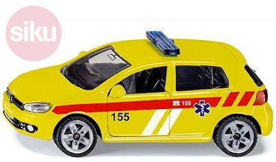 SIKU Auto osobní Volkswagen Golf VI 2.0 TDI Ambulance ČR model kov 1411