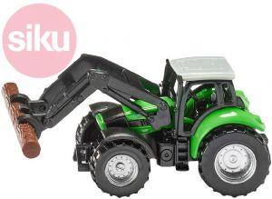 SIKU traktor Deutz s kleštěmi na dříví