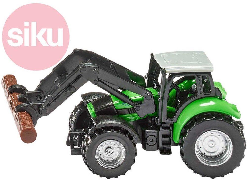 SIKU Model traktor Deutz s kleštěmi na dříví kov 1380