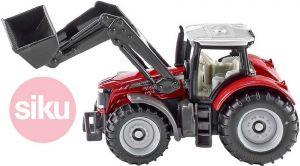 SIKU traktor Massey Ferguson s předním nakladačem