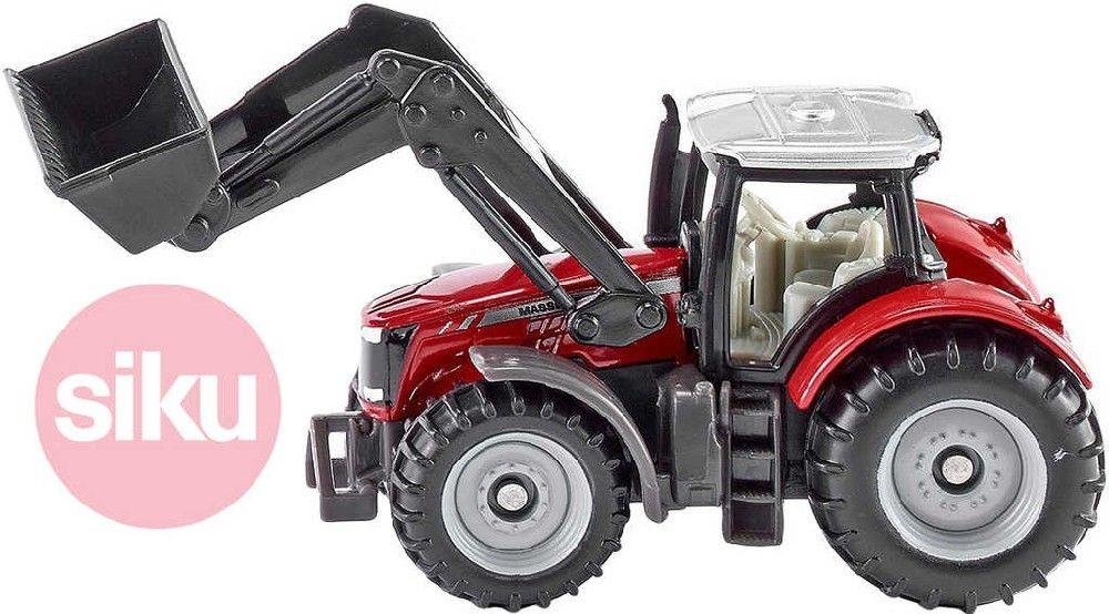 SIKU Model traktor Massey Ferguson s předním nakladačem 1:87 kov