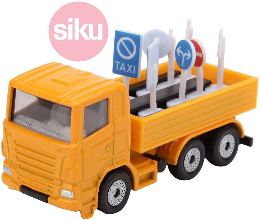 SIKU Nákladní vozidlo s dopravními značkami kovové 1322
