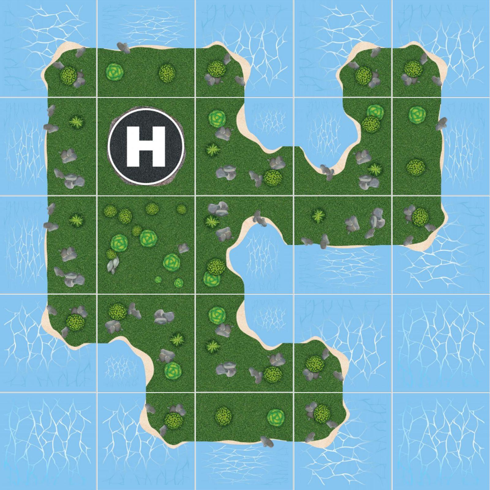 Podlahové puzzle Tajný ostrov vládce světa