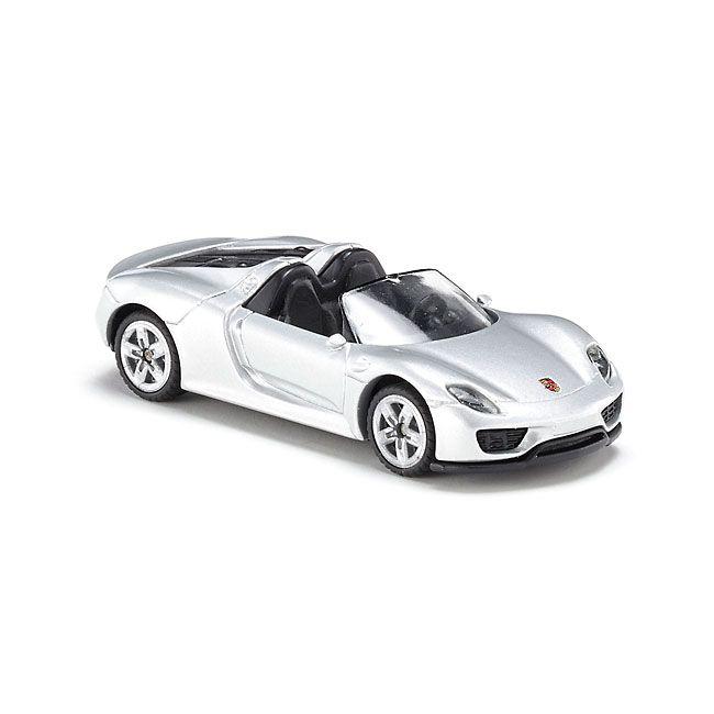 SIKU Auto osobní Porsche 918 Spider stříbrný model kov 1475