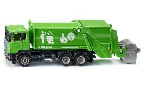 SIKU Auto popeláři Scania s kontejnerem