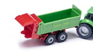 SIKU Model traktor Deutz s vlekem zelený 1673