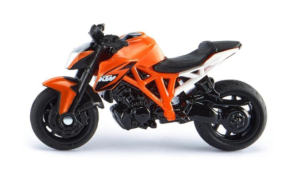 SIKU Motorka oranžová KTM 1290 Super Duke model kov 1384