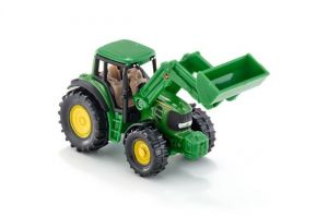 SIKU Traktor John Deere s čelním nakladačem
