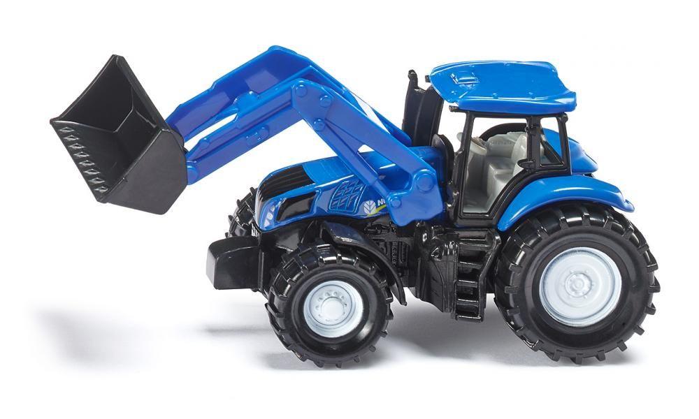 SIKU Traktor s předním nakladčem New Holland Na stavbu KOV