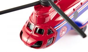 SIKU Vrtulník červený dopravní 17cm helikoptera kovový model blister 1689